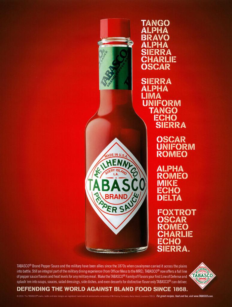 TABASCO Advertising | Phillip Collier Designs Ad