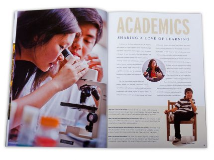 View book design for Cate School.