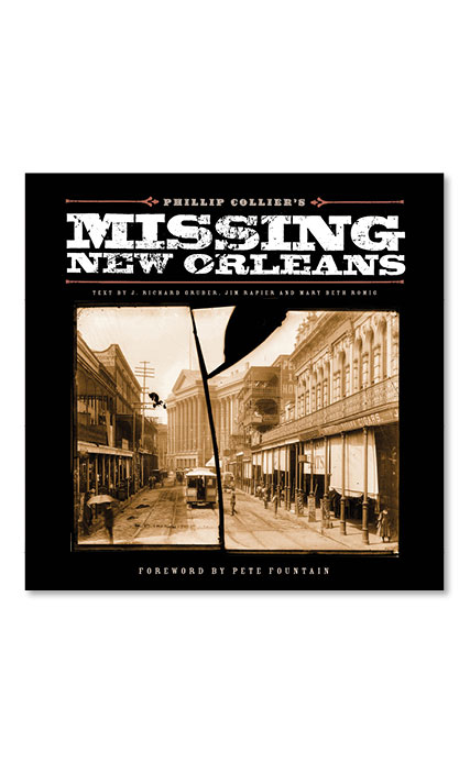 Book design for Phillip Collier's Missing New Orleans.