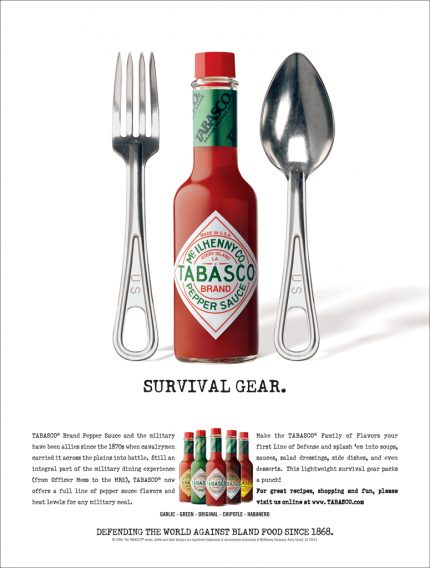 Ad campaign designed for Tabasco.