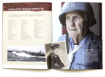 Annual report design for the WWII Museum in New Orleans.