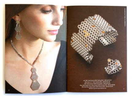 Advertising design for Mignon Faget.