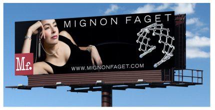 Billboard design for Mignon Faget.