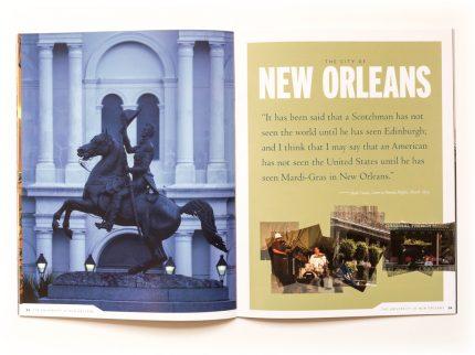 Brochure design for University of New Orleans.