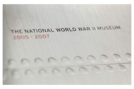 2009 annual report design for The National WWII Museum.