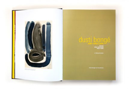 Book design example from Dusti Bongé, Art and Life: Biloxi, New Orleans, New York.